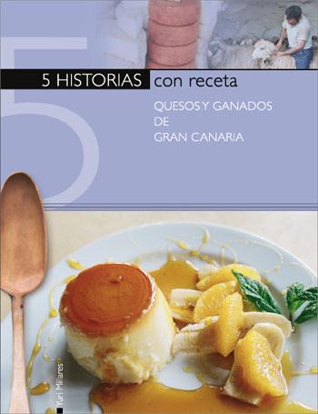 """Portada del volumen 4 de la colección """"Cinco historias con receta""""."""